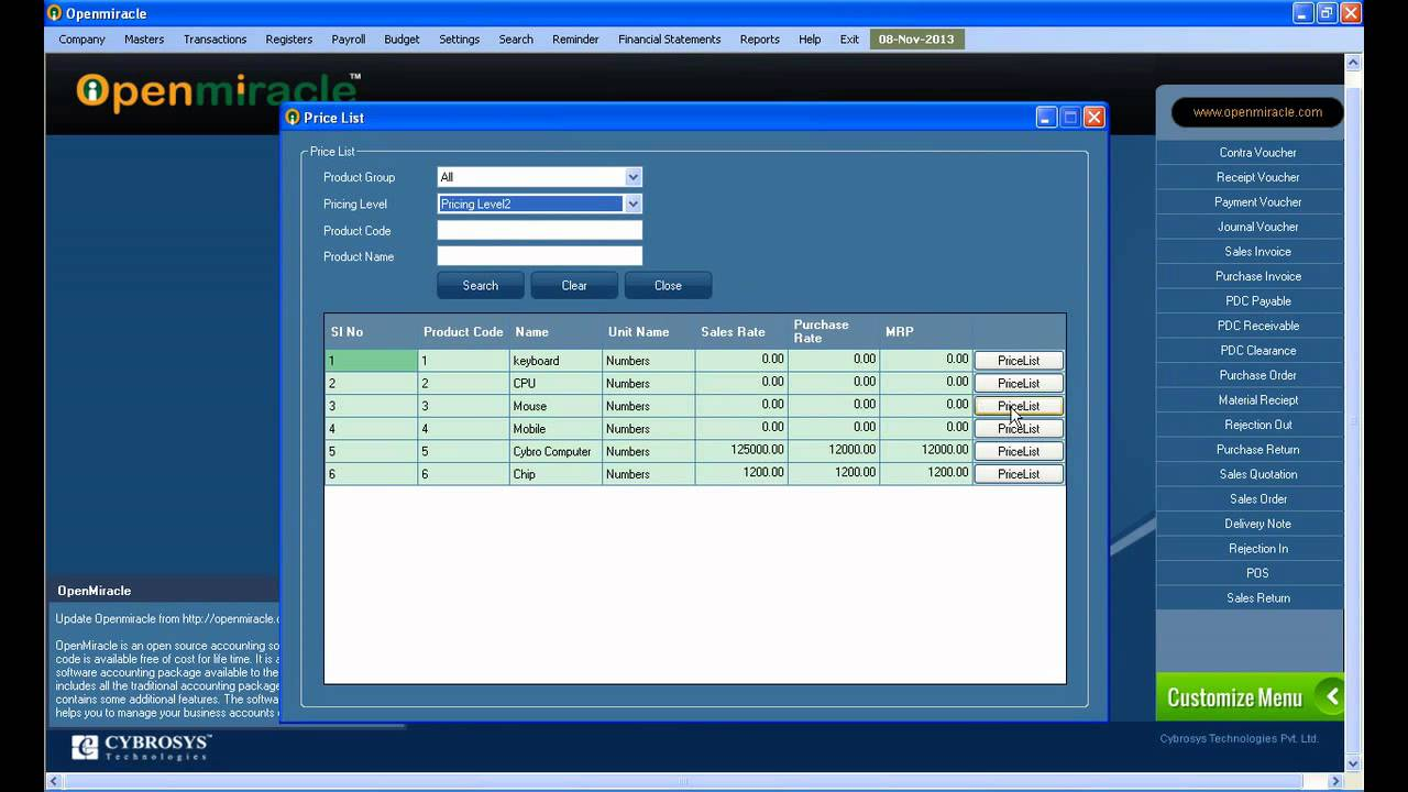 Price list Software - Free Download price list - Top 4 Download