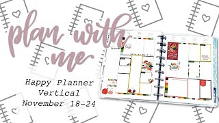 PLAN WITH ME HAPPY PLANNER VERTICAL - November 18-24