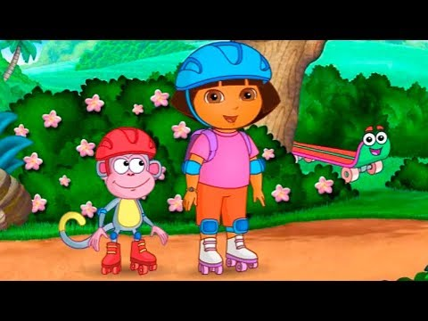 Dora the Explorer Dora's Great Roller Skate Adventure Funny Games TV