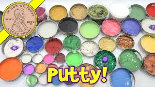 Crazy Aaron's Putty Collection - Over 40 Putties! Thinking Putty Mixing - What's Inside the Bin!