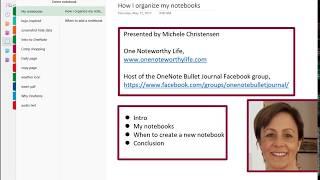 How I organize my OneNote Notebooks