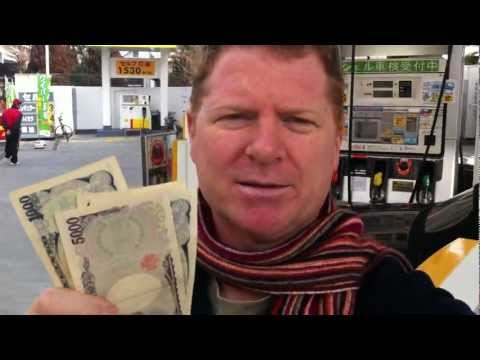 Getting Change back at a Tokyo Japan Self Serve Gas Stand