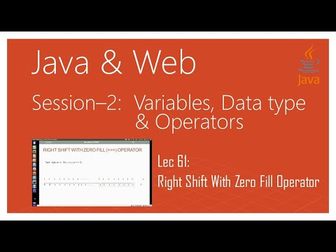 Bitwise Operators in Java | Part 9 | Right Shift With Zero Fill Operator in Java
