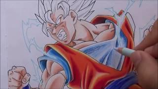 Como dibujar a GOKU SSJ2 vs GOHAN Místico Part 2. Dragon Ball Super Ep 90. How to Draw GOKU vs GOHAN