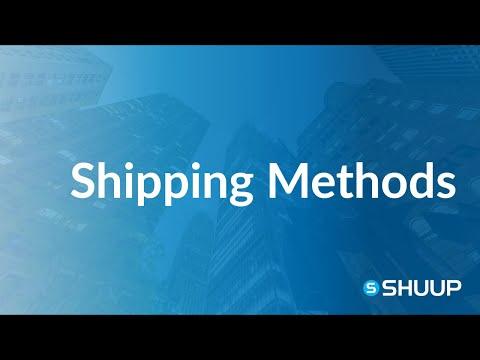 Shuup Shipping Methods