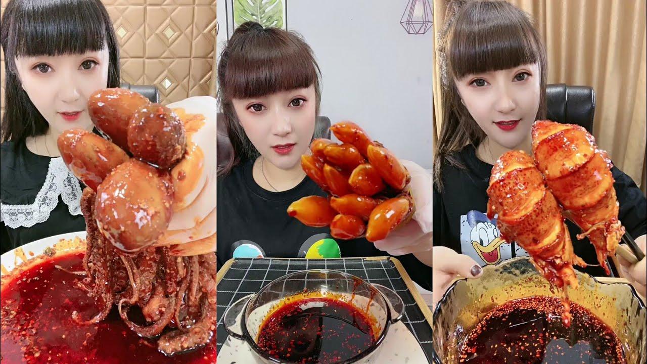 [ASMR Eatting 大胃王吃播], 小鲜女爱吃海鲜,part 1