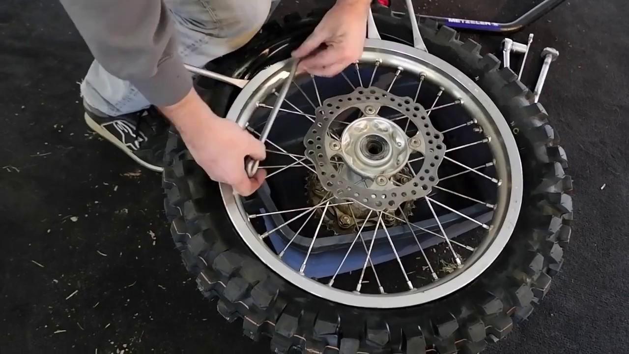 honda crfl tire change  detail canada moto rallies youtube