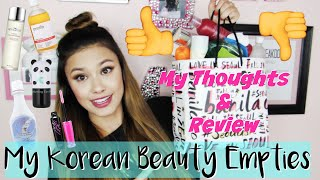 My Korean Beauty, Makeup & Skincare Empties | Reviews + My Thoughts