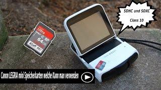 Canon LEGRIA mini Speicherkarten welche Kann man verwenden