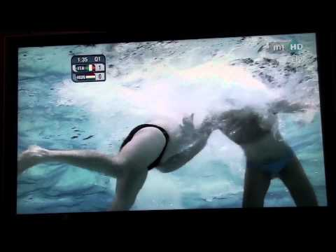 Thumbnail: water polo underwater man-to-man defence