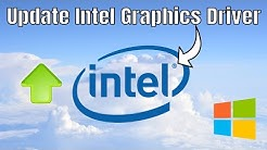 How To Update Intel® Graphics Drivers - Manually Install Intel HD Graphics Drivers 2020 (Official)