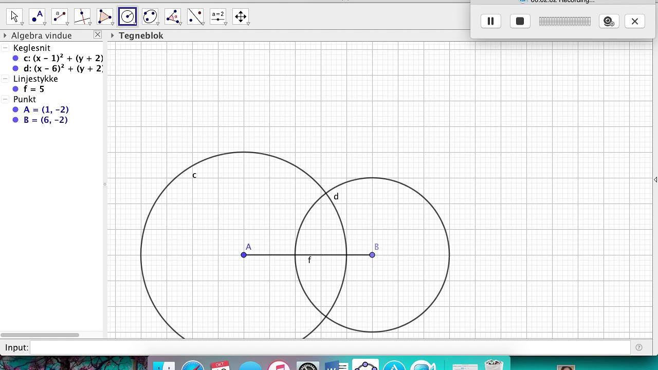 Skærmoptagelse konstruering af trekant
