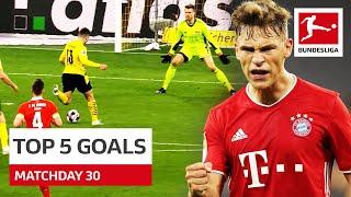 Top 5 Goals • Kimmich, Guerreiro & More | Matchday 30 - 2020/21
