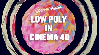 Cinema 4D Tutorial - Low Poly Look In Cinema 4D