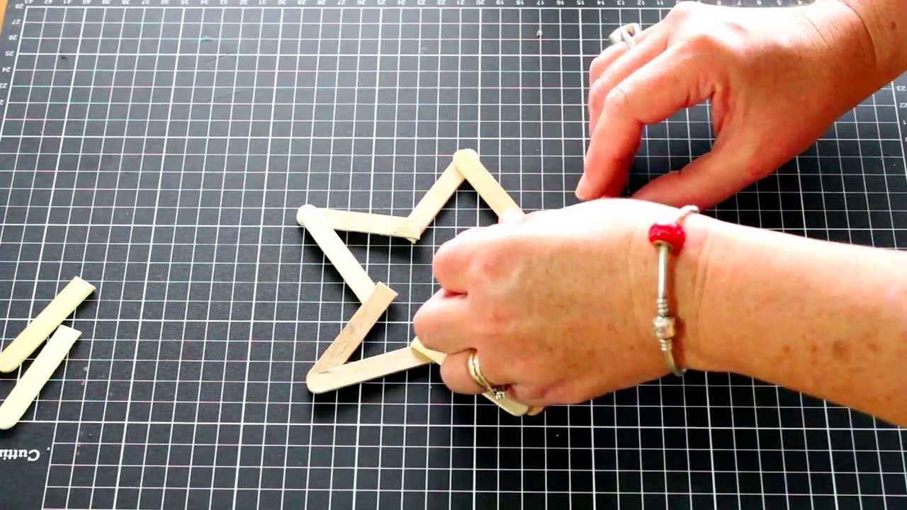 kids craft activity popsicle stick star youtube