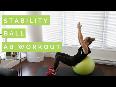 Stability Ball Ab Workout Full Length