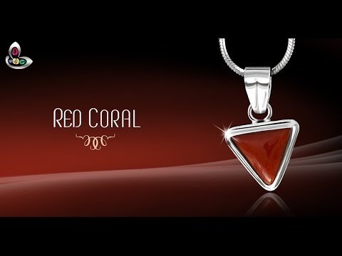triangle locket shakti divya pendant red carats original coral munga moonga dp