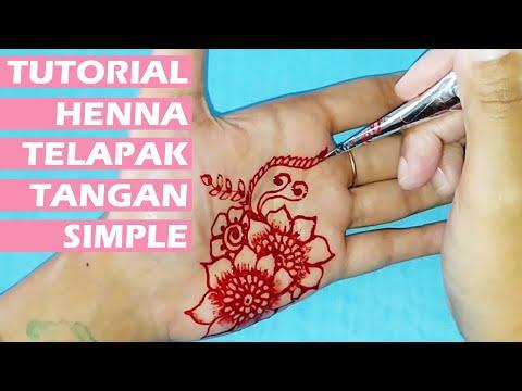 ᴴᴰ Henna Telapak Tangan Simple Resmana Henna Youtube