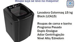 Lavadora Colormaq 15 kg - Black (LCA15) - Programa Pesado/Nível Alto