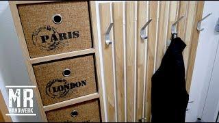 (2/2) Flur Garderobe mit viel Stauraum selber bauen ! Ausführliche Anleitung