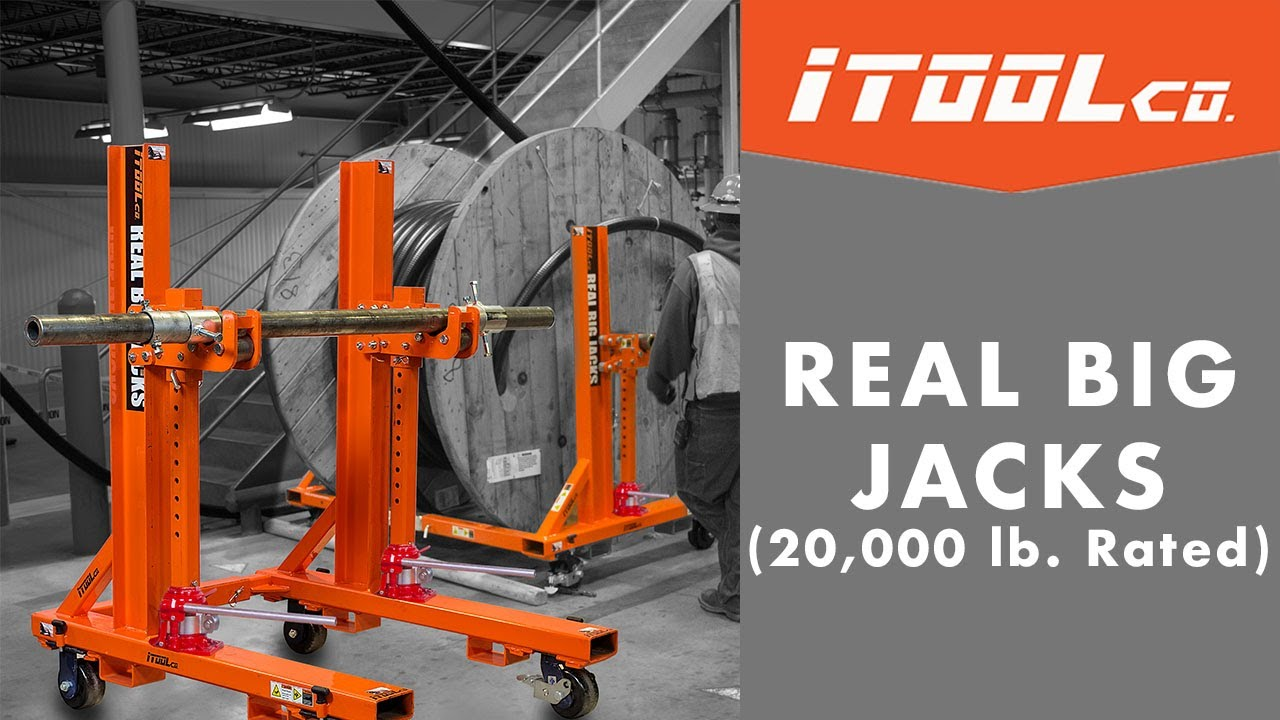 Jack Stands for Big Reel -- iTOOLco\'s Real Big Jacks - YouTube