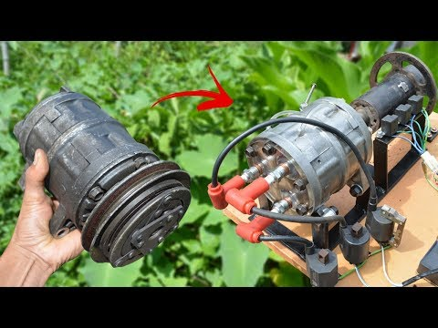 I turn Car Compressor into Working Engine