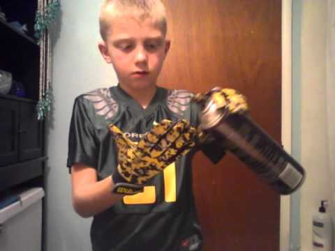 How make your football gloves sticky withhairspray