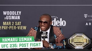 UFC 235 Post-Fight Press Conference: Kamaru Usman