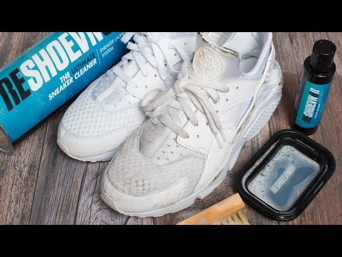 How to clean triple White Huaraches with Reshoevn8r