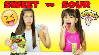 SWEET vs SOUR CANDY CHALLENGE - Which one is the Sourest Candy?
