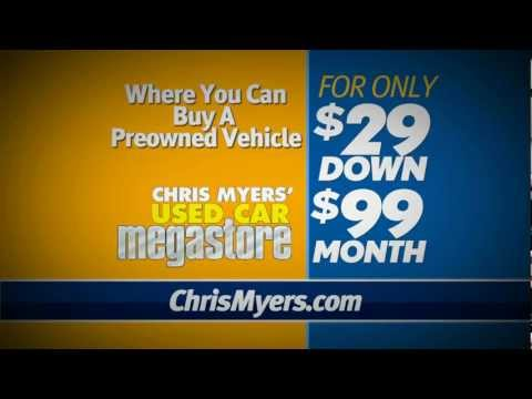 Chris Myers Used Car Megastore 29 Down 99 A Month