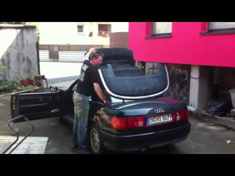audi 80 cabrio with glass rear window 2 youtube. Black Bedroom Furniture Sets. Home Design Ideas