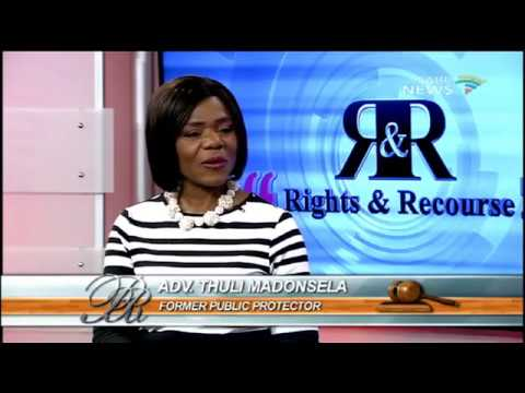 Rights and Recourse, Thuli Madonsela: 23 October 2016