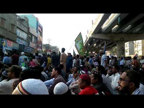 Dharna in orangi town Karachi