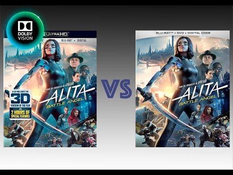 ▶ Comparison of Alita: Battle Angel 4K (2K DI) HDolby Vision vs Regular Version