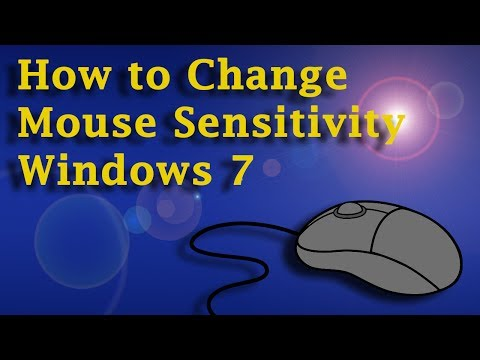How To Change Mouse Sensitivity - Windows 7