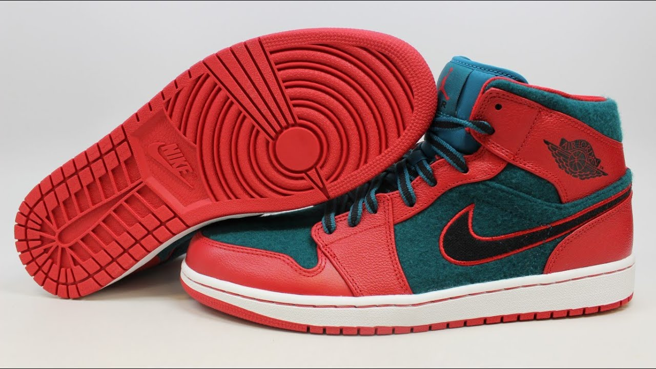 6e06371fb8624d Nike Air Jordan 1 I Mid Retro 633206-608 KixRx.com Gym Red Dark Sea Mens