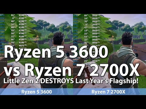 AMD Ryzen 5 3600 vs Ryzen 7 2700X in 6 Games  CS:GO