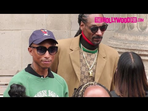 Pharrell Williams Poses With Snoop Dogg At His Hollywood Walk Of Fame Ceremony 11.19.18