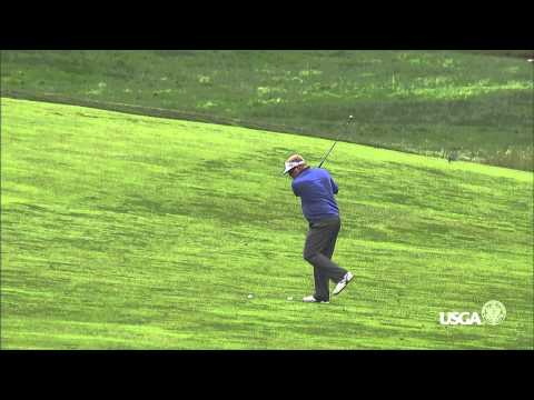 2013 U.S. Open: Carl Pettersson's Ball Struck By Another Ball Mid-Swing