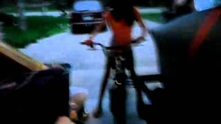 Random Girl HItting People With Bikes
