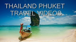 PHUKET THAILAND BANGKOK BEACH TRAVEL DRONE FOOTAGE FULL HD
