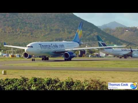 Thomas Cook A330 take off in St.Lucia 1080p