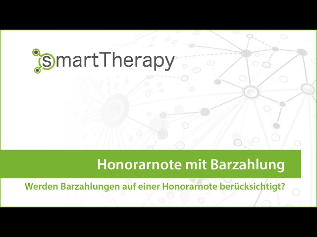 smartTherapy: Honorarnote mit Barbeleg