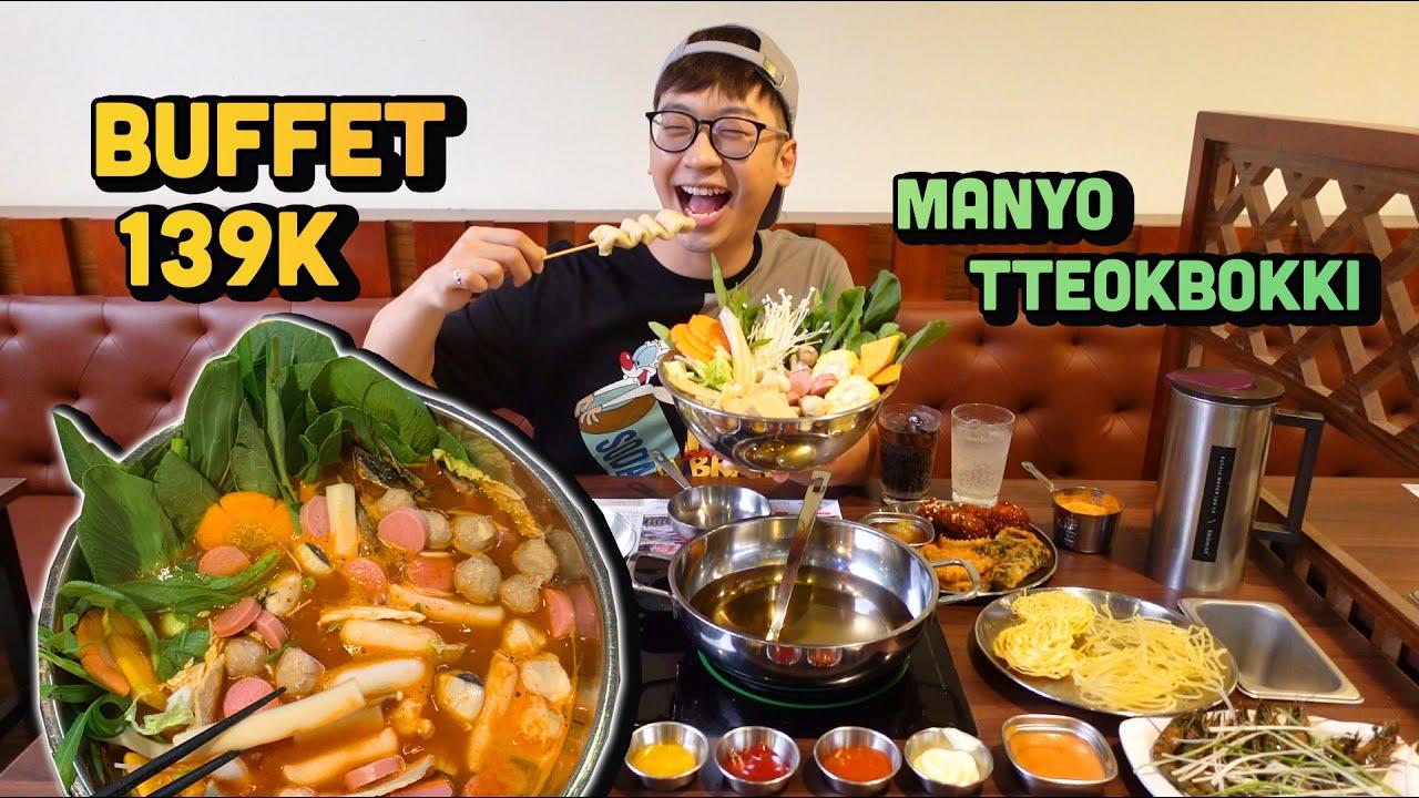 Ăn thử BUFFET 떡볶이 TTEOKBOKKI 139K gần nhà mới // Ninh Eating ăn gì series