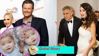 Blake Shelton Inspired by Amal Clooney wants Gwen Stefani pregnant Twins later in life