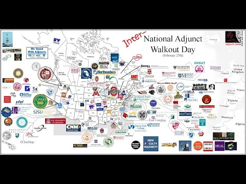 On National Adjunct Walkout Day, Professors Call Out Poverty-Level Wages & Poor Working Conditions