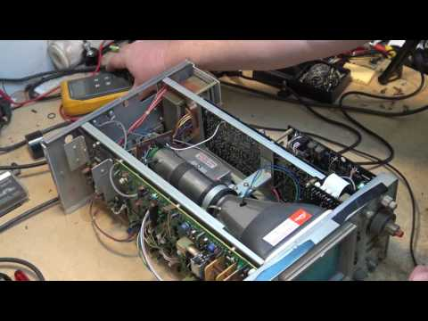 Iwatsu SS 5705 Osciloscope tear down and troubleshoot