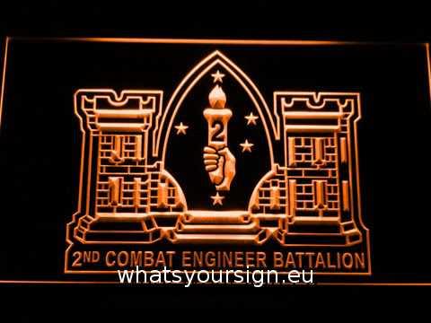 US Marine Corps 2nd Combat Engineer Marine LED Neon Sign
