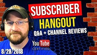 Creator Fundamentals LIVE! | SUBSCRIBER HANGOUT | FREE LIVE CHANNEL REVIEWS